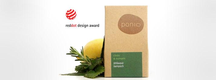 REDDOT Design Award za obaly kozmetiky PONIO
