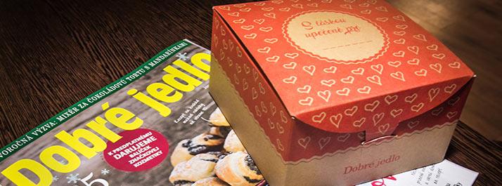 Nové krabičky pre časopis Dobré jedlo